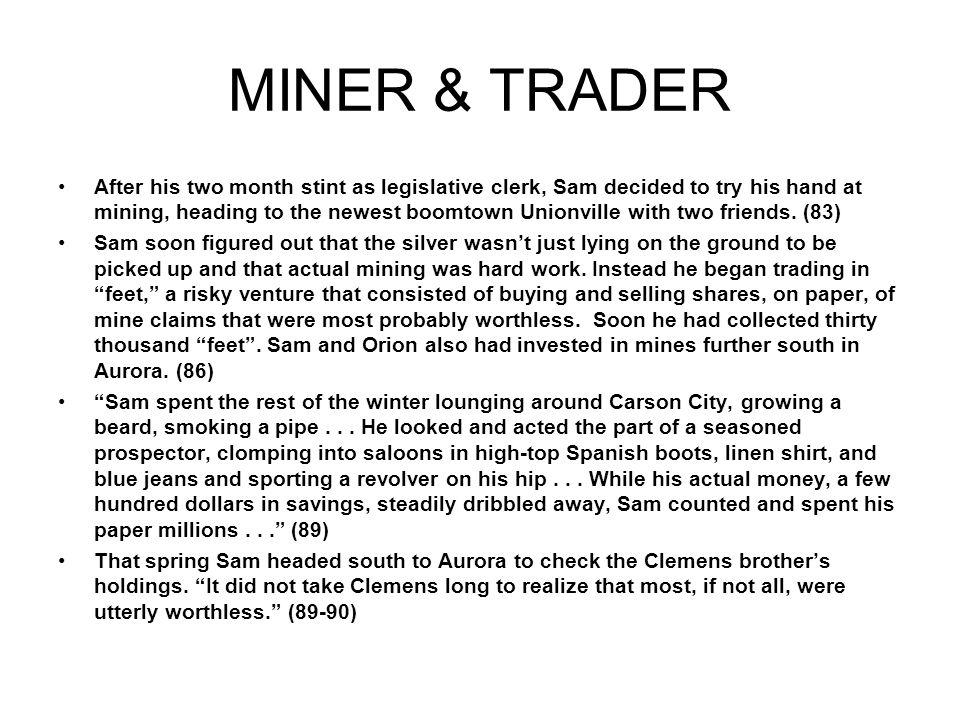 MINER & TRADER