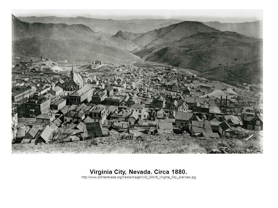 Virginia City, Nevada. Circa 1880.