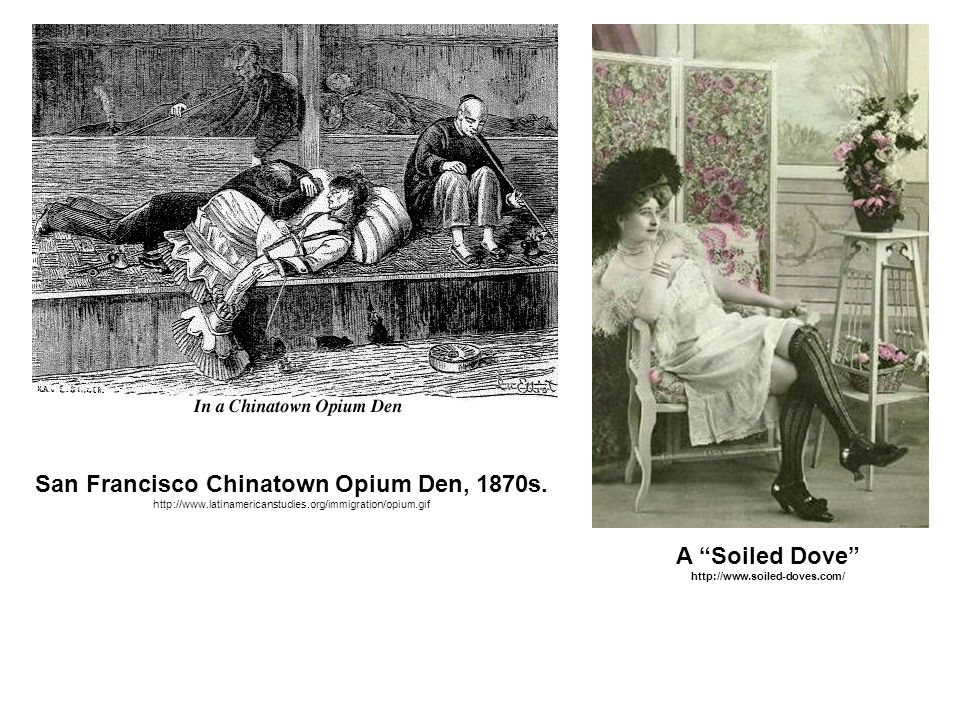 San Francisco Chinatown Opium Den, 1870s.
