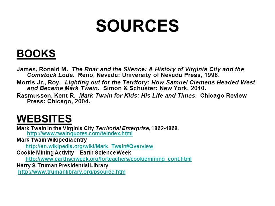 SOURCES BOOKS WEBSITES