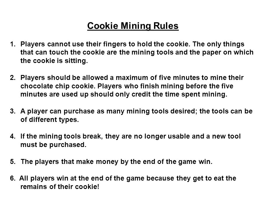 Cookie Mining Rules