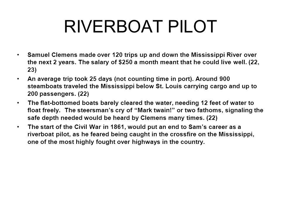 RIVERBOAT PILOT