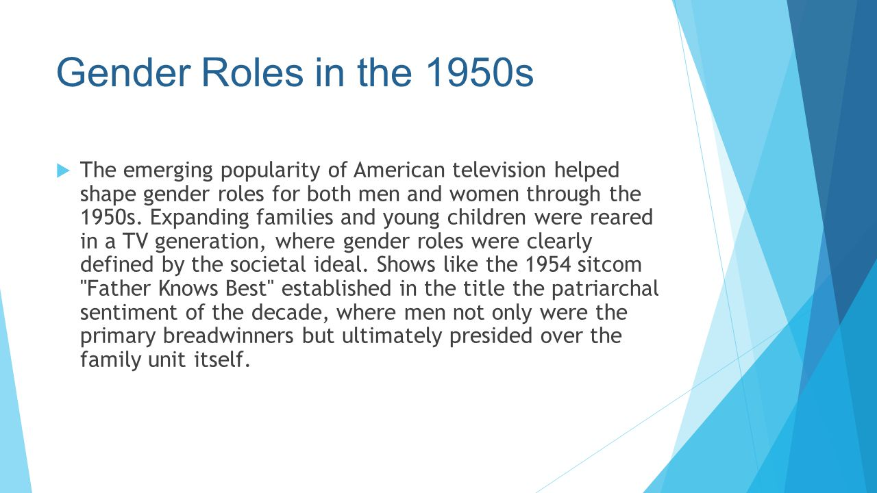 Gender Roles in the 1950s