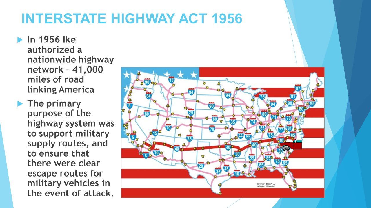 INTERSTATE HIGHWAY ACT 1956