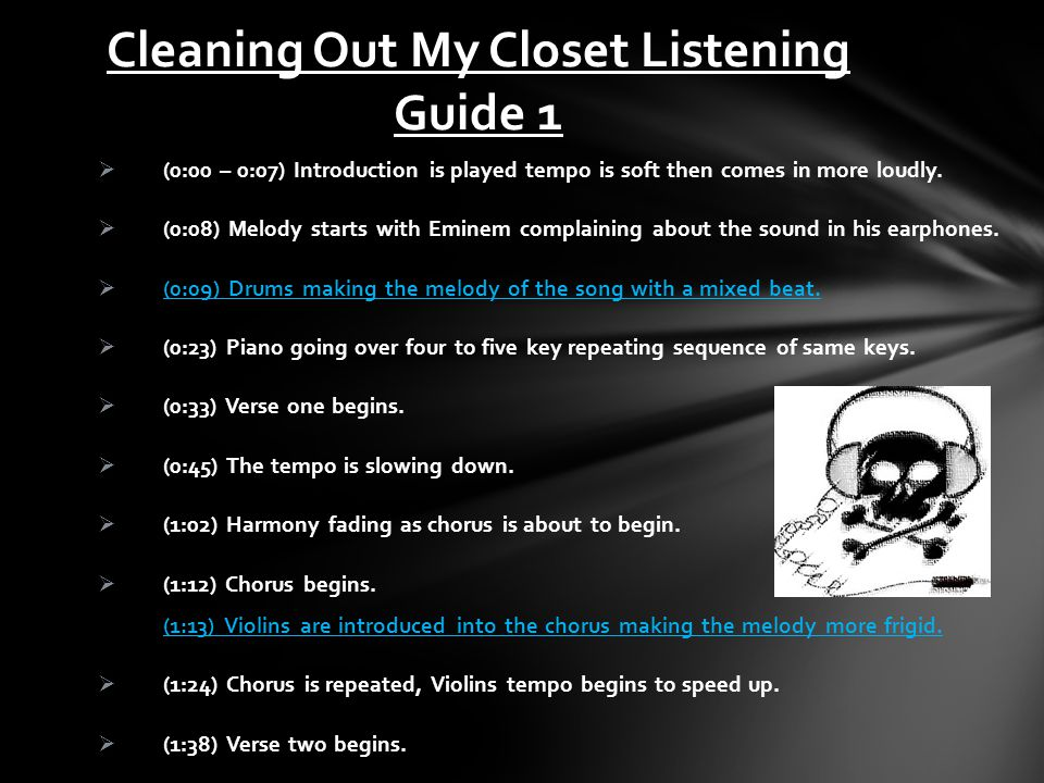 Cleaning Out My Closet Listening Guide 1