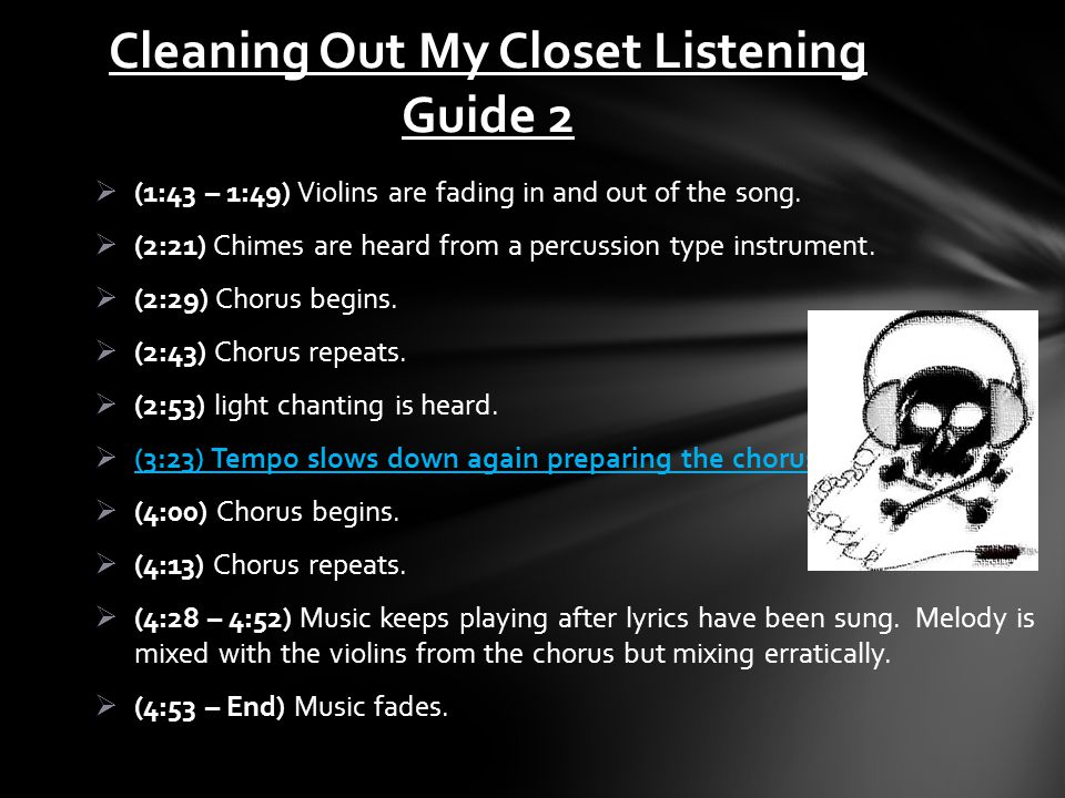 Cleaning Out My Closet Listening Guide 2