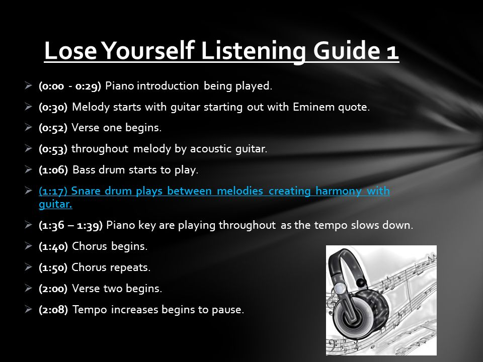 Lose Yourself Listening Guide 1