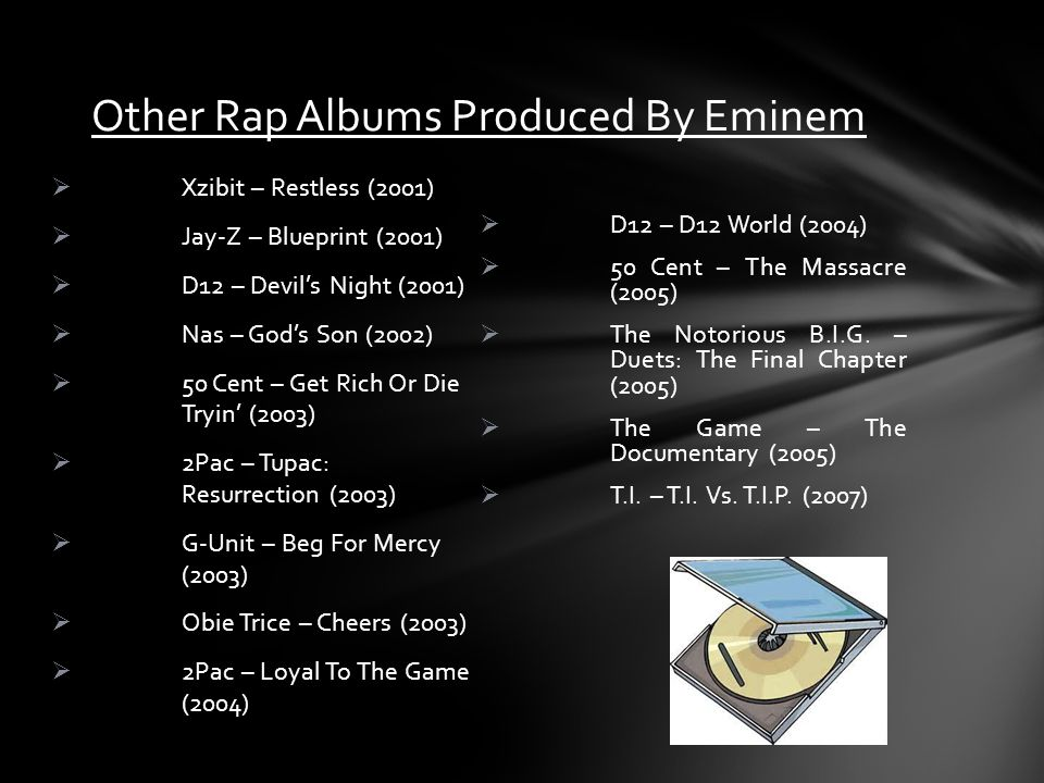 Other Rap Albums Produced By Eminem