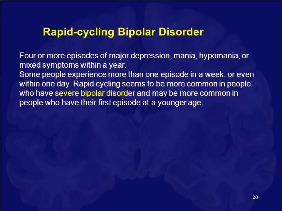 Rapid-cycling Bipolar Disorder