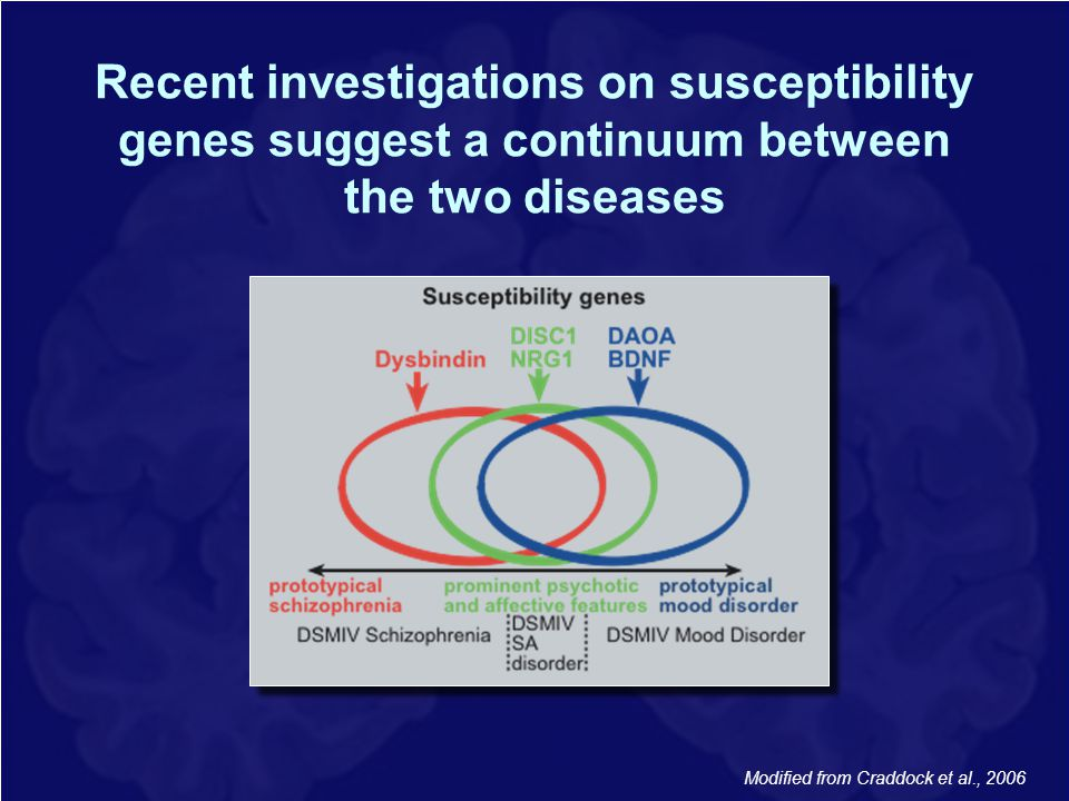 Recent investigations on susceptibility genes suggest a continuum between the two diseases