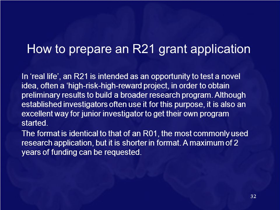 How to prepare an R21 grant application