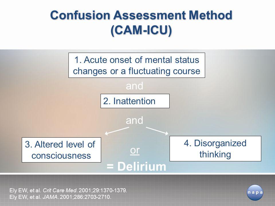 Confusion Assessment Method (CAM-ICU)