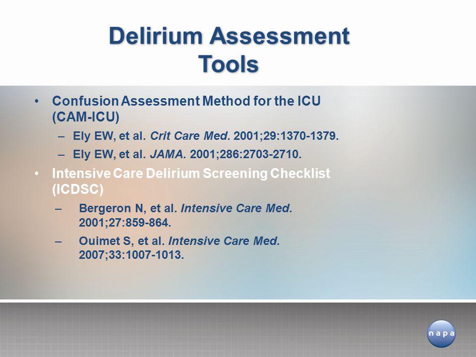 Delirium Assessment Tools