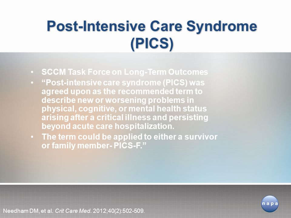 Post-Intensive Care Syndrome (PICS)