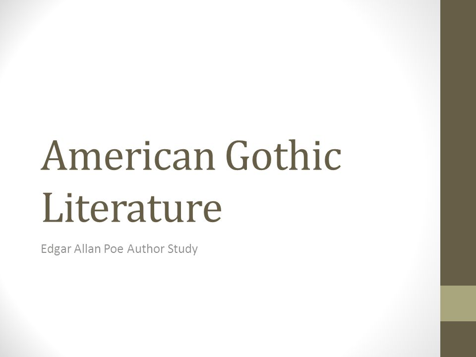 American Gothic Literature