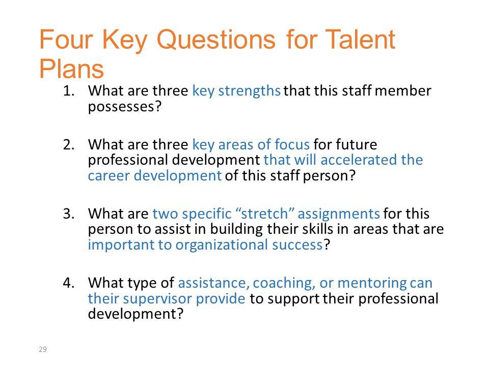 Four Key Questions for Talent Plans
