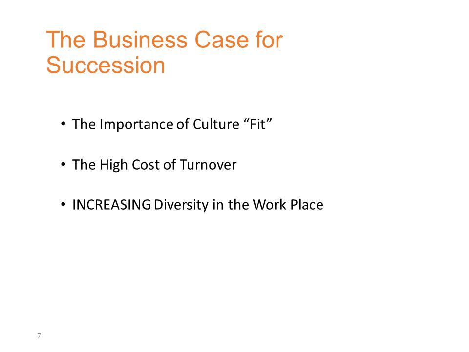 The Business Case for Succession