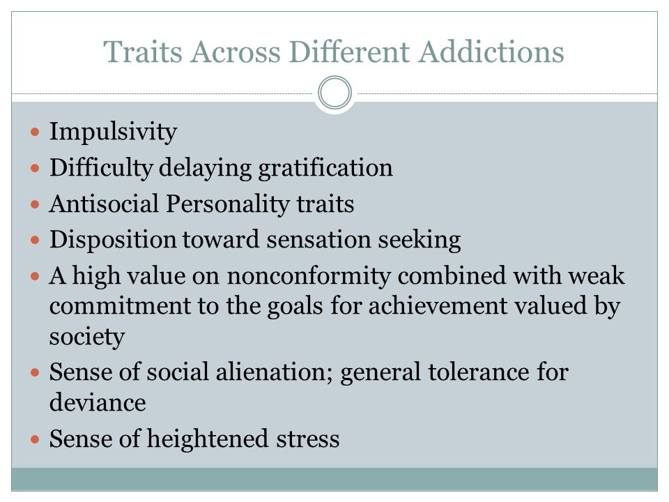 Traits Across Different Addictions