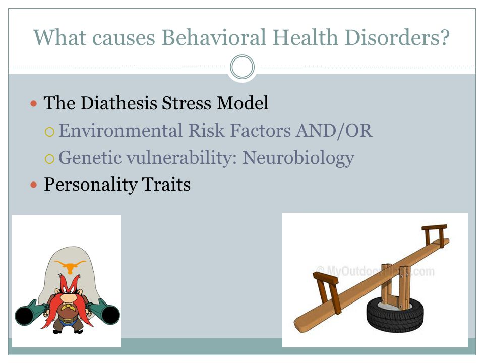 What causes Behavioral Health Disorders