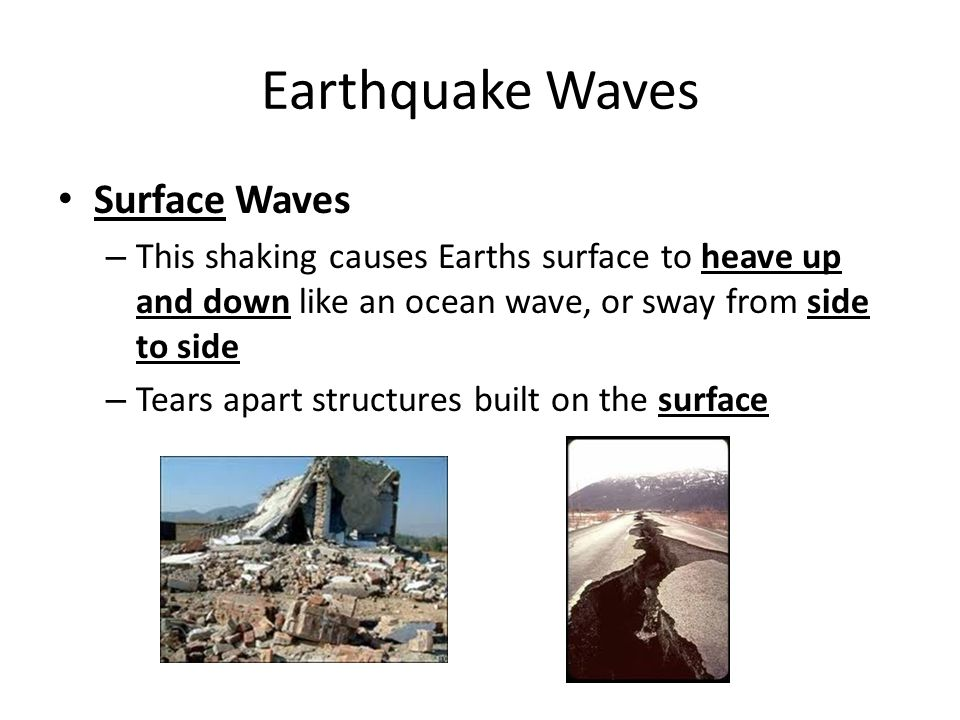 Earthquake Waves Surface Waves