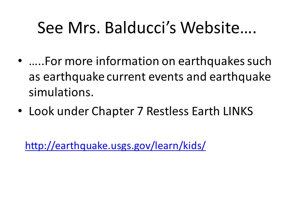 See Mrs. Balducci's Website….
