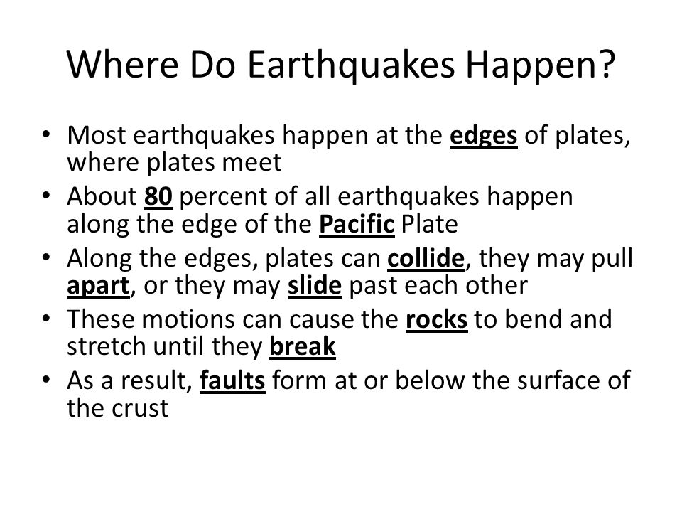 Where Do Earthquakes Happen