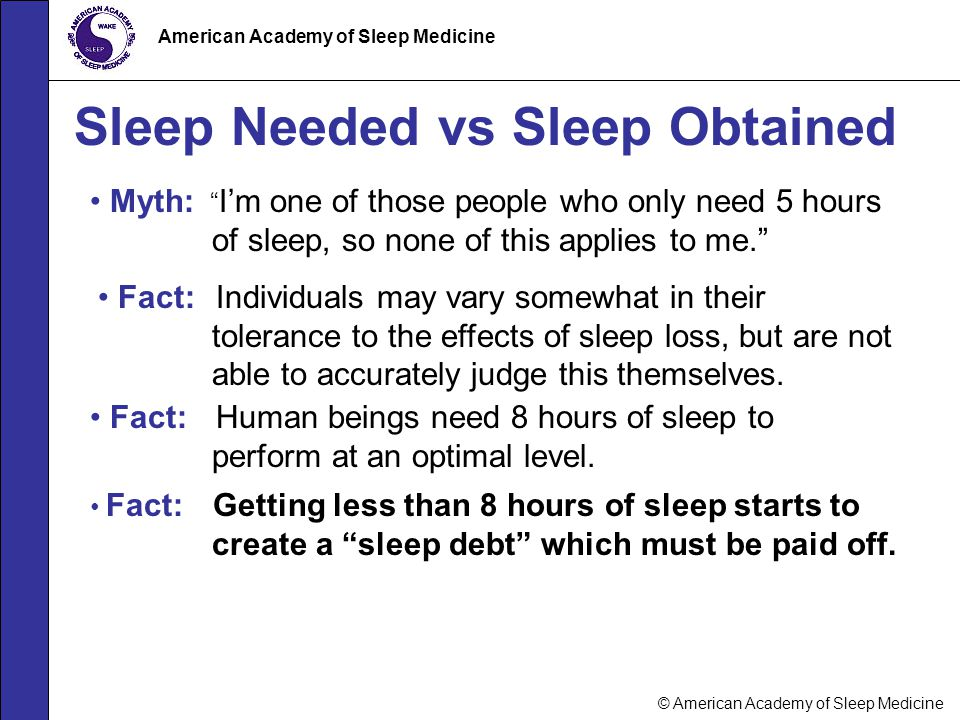 Sleep Needed vs Sleep Obtained
