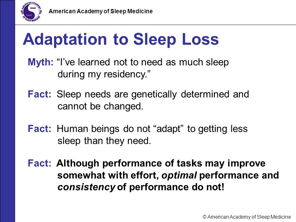 Adaptation to Sleep Loss