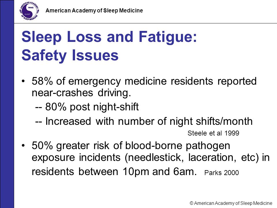 Sleep Loss and Fatigue: Safety Issues