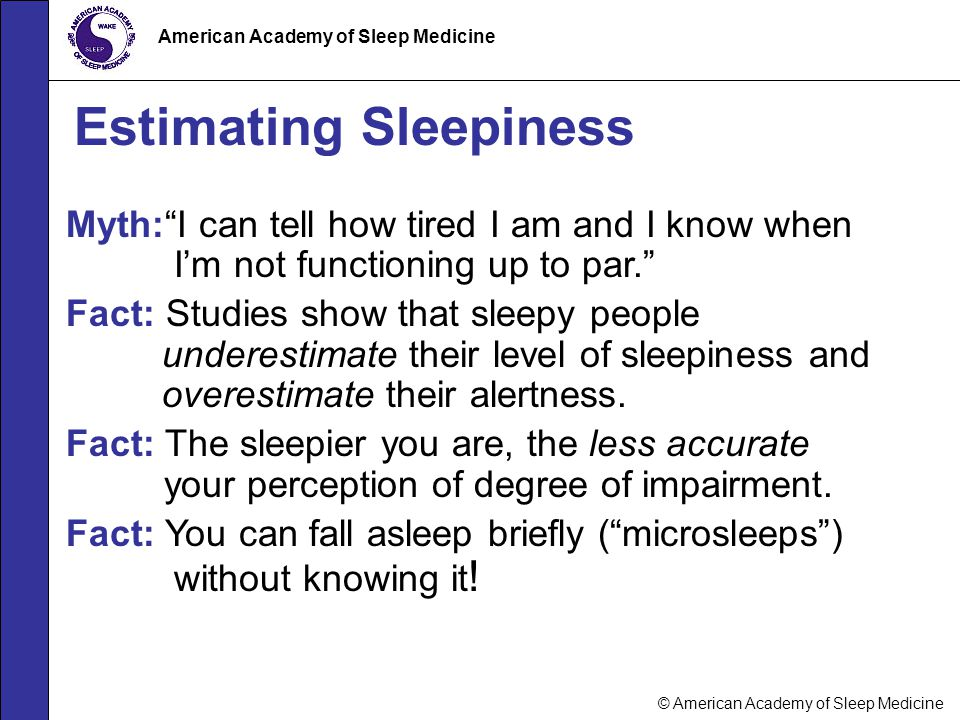 Estimating Sleepiness