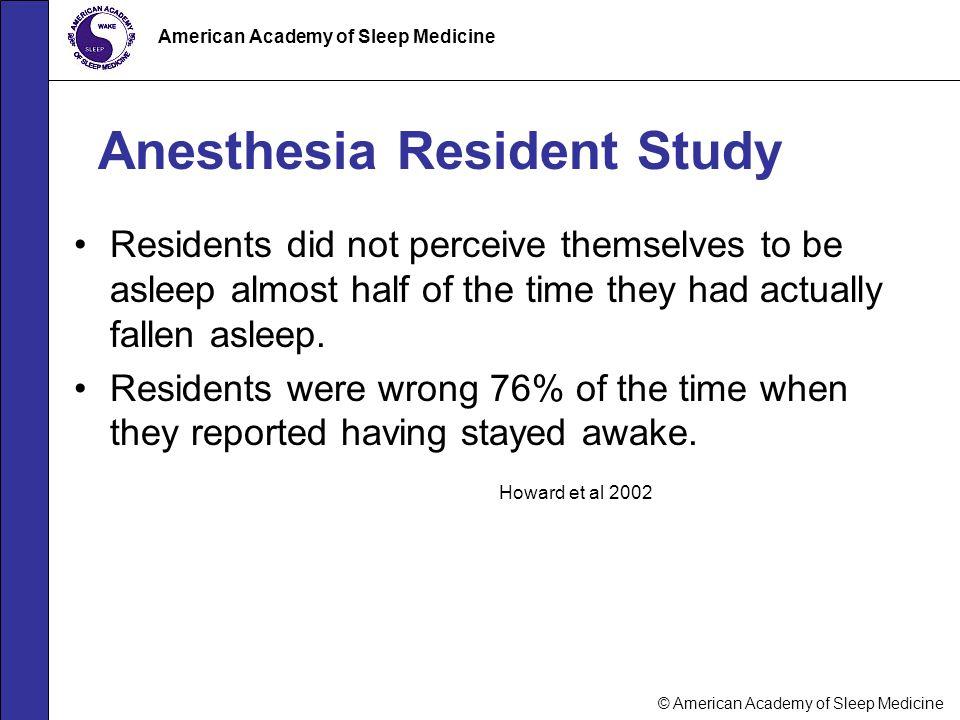 Anesthesia Resident Study