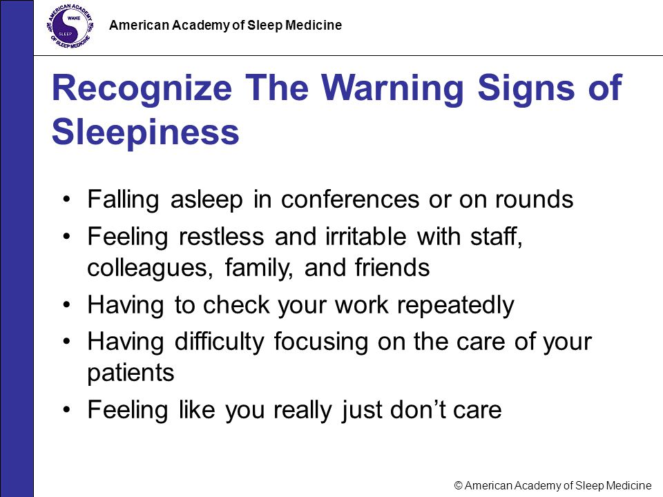 Recognize The Warning Signs of Sleepiness