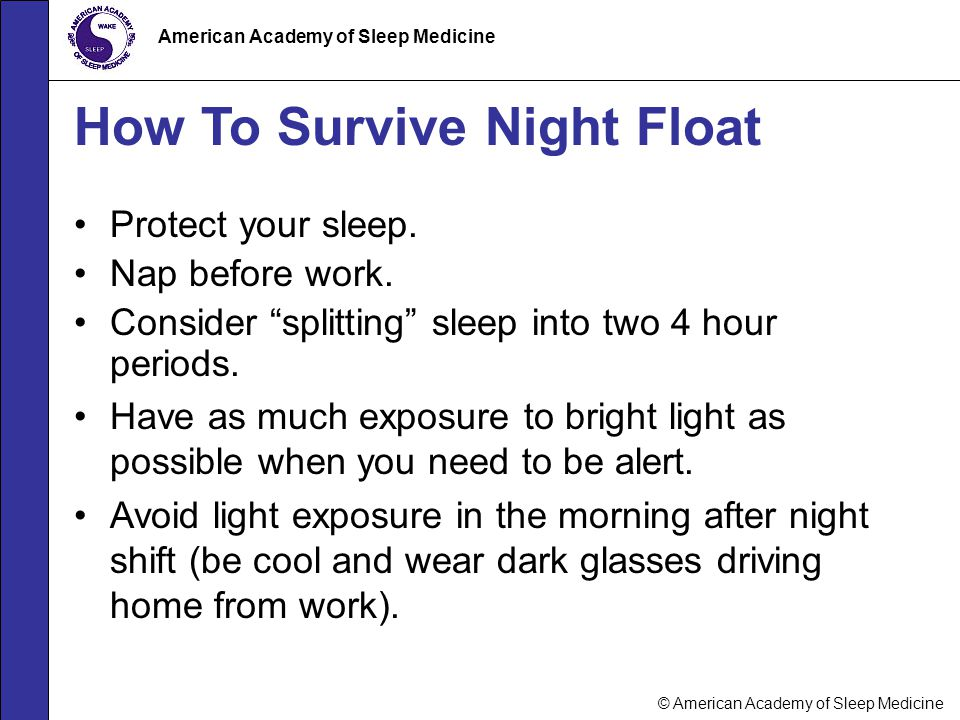 How To Survive Night Float
