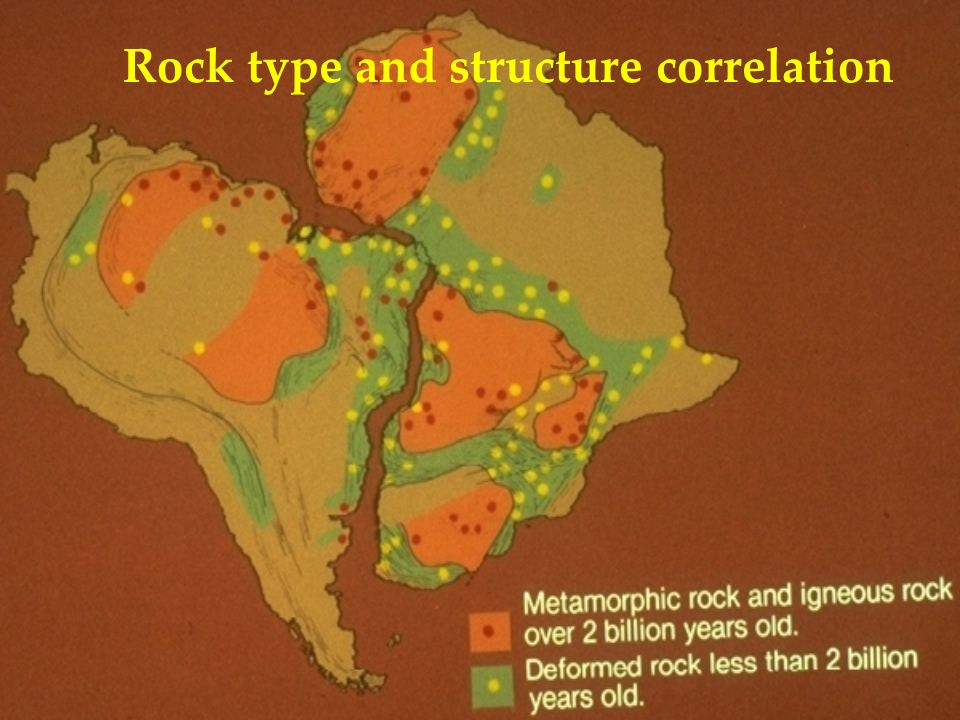 Rock type and structure correlation