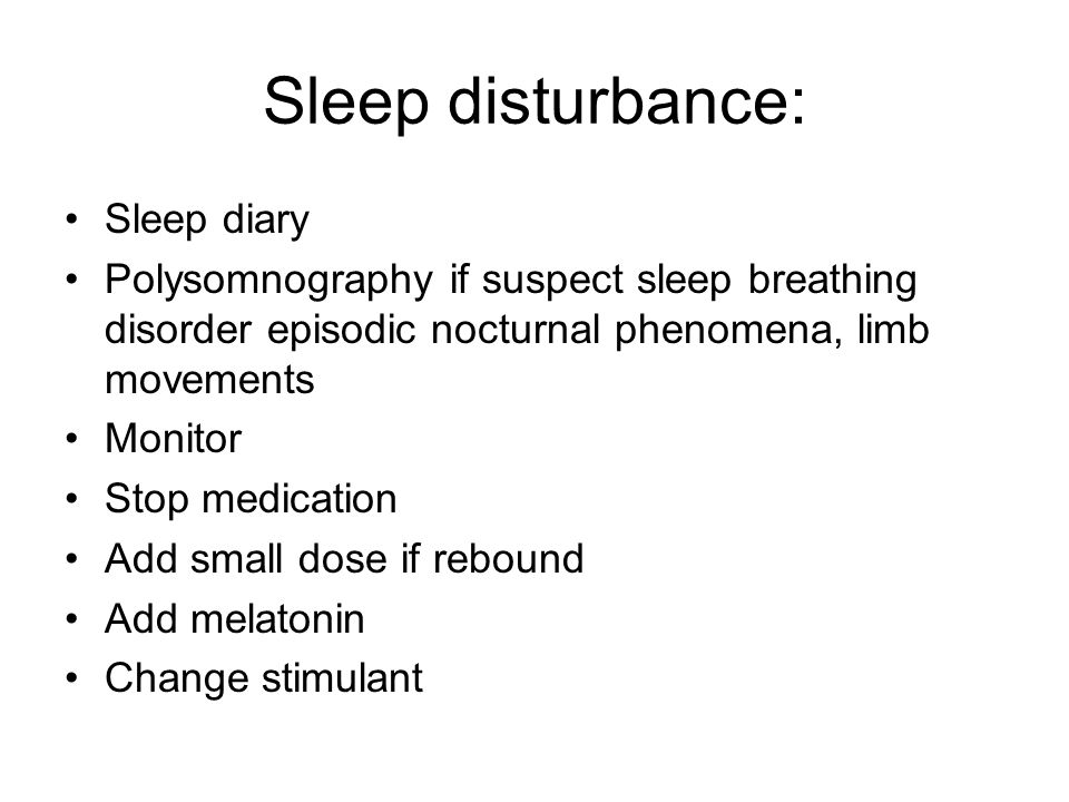 Sleep disturbance: Sleep diary