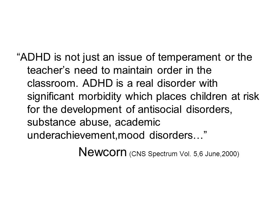 Newcorn (CNS Spectrum Vol. 5,6 June,2000)