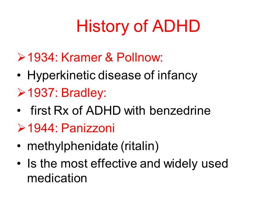 History of ADHD 1934: Kramer & Pollnow: