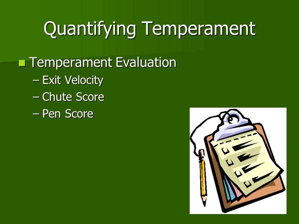 Quantifying Temperament