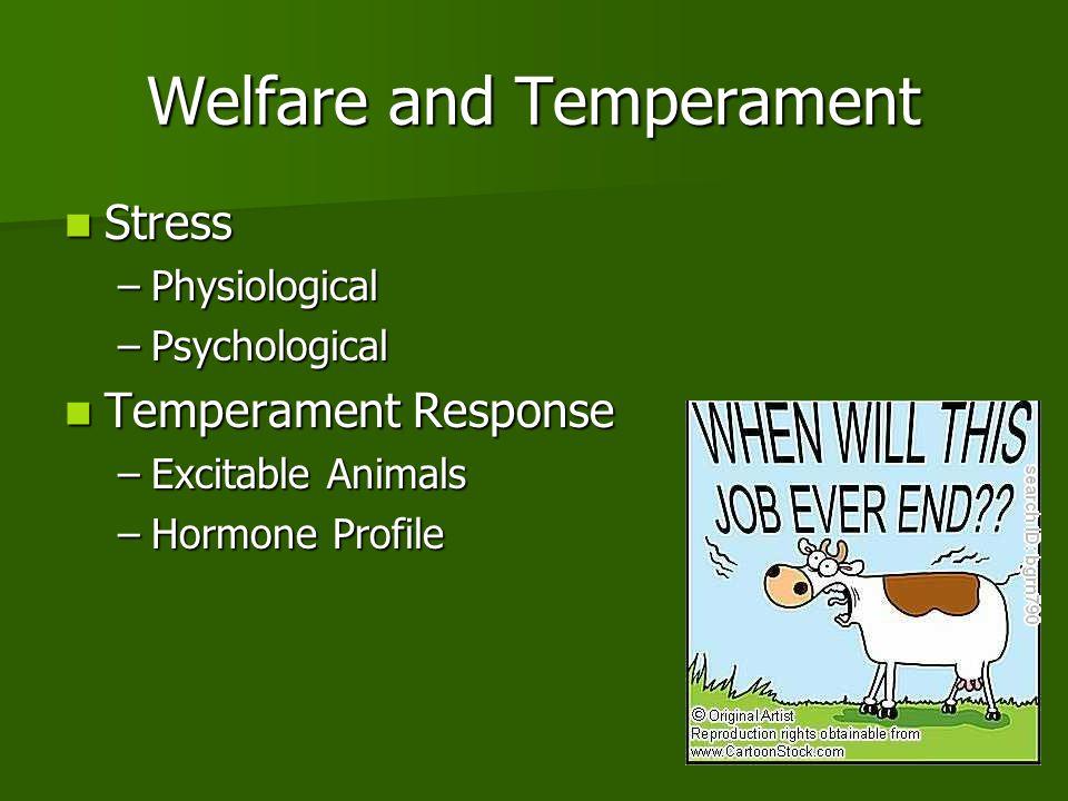 Welfare and Temperament