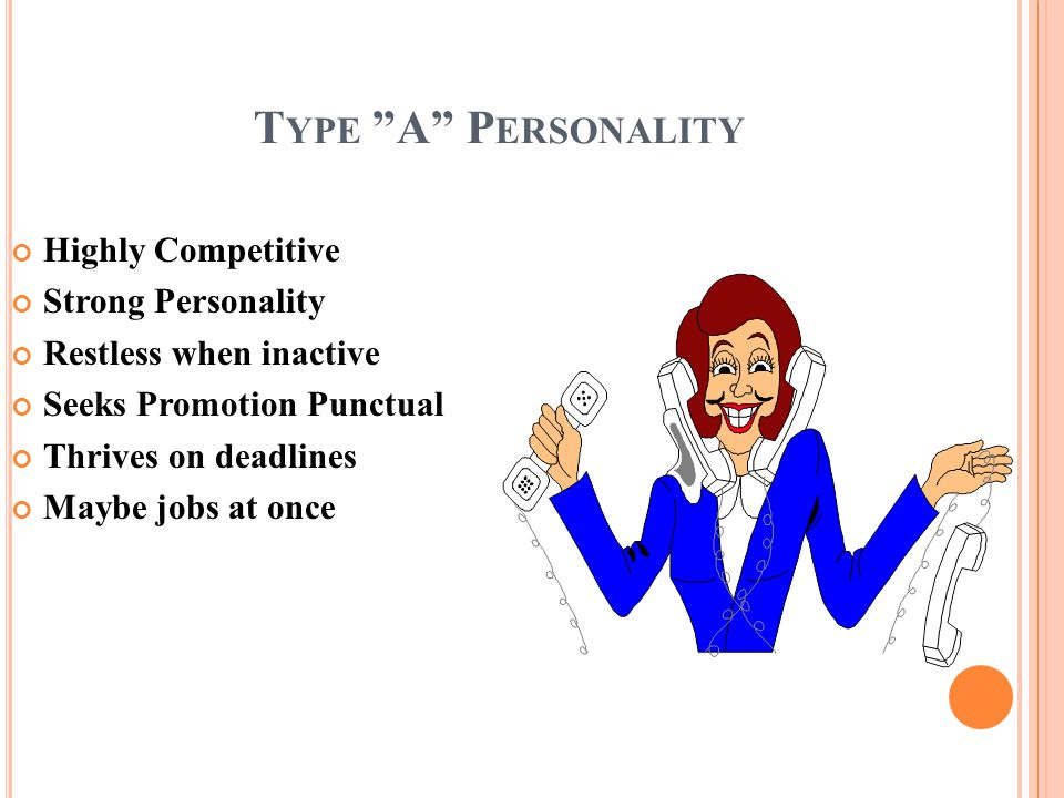 Type A Personality Highly Competitive Strong Personality
