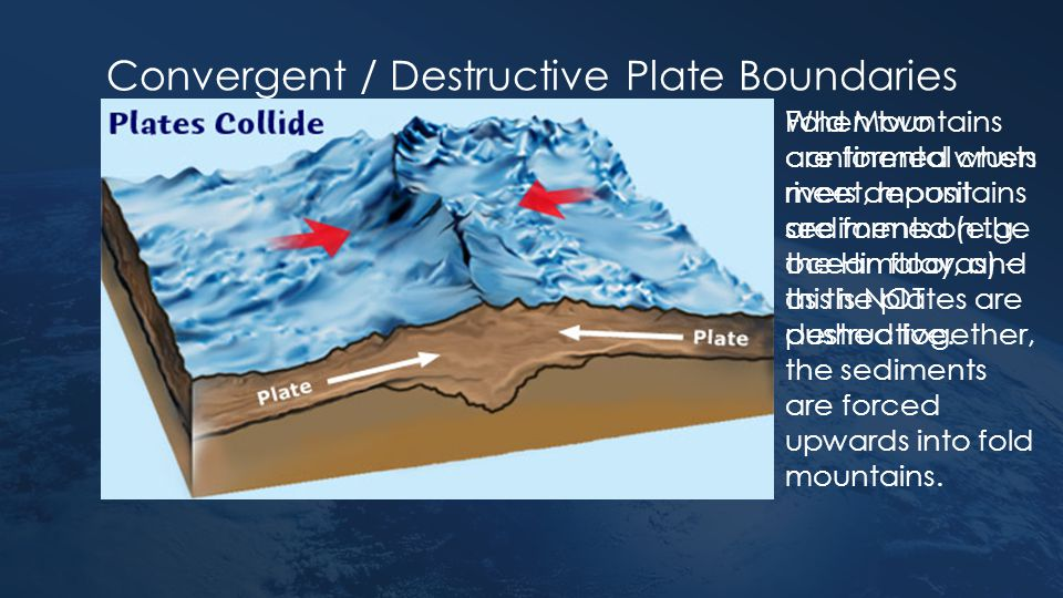 Convergent / Destructive Plate Boundaries