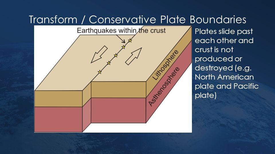 Transform / Conservative Plate Boundaries