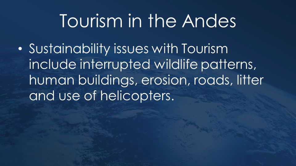 Tourism in the Andes