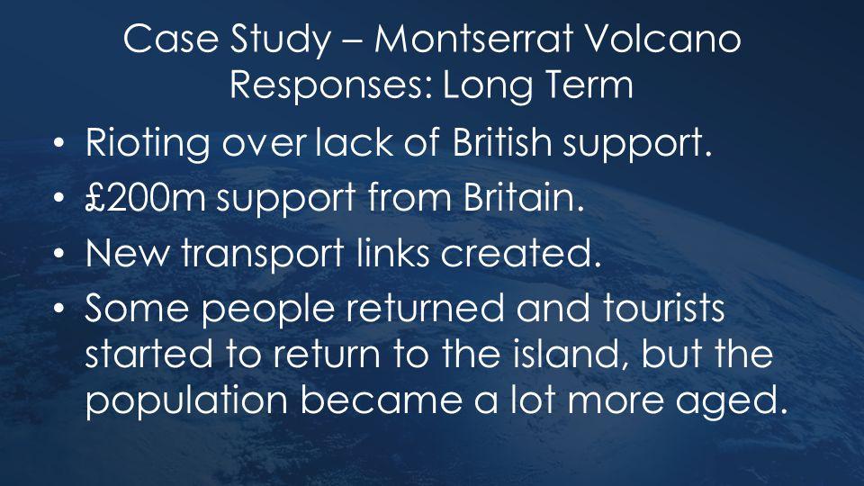Case Study – Montserrat Volcano Responses: Long Term