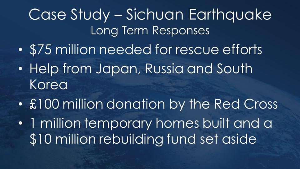 Case Study – Sichuan Earthquake Long Term Responses