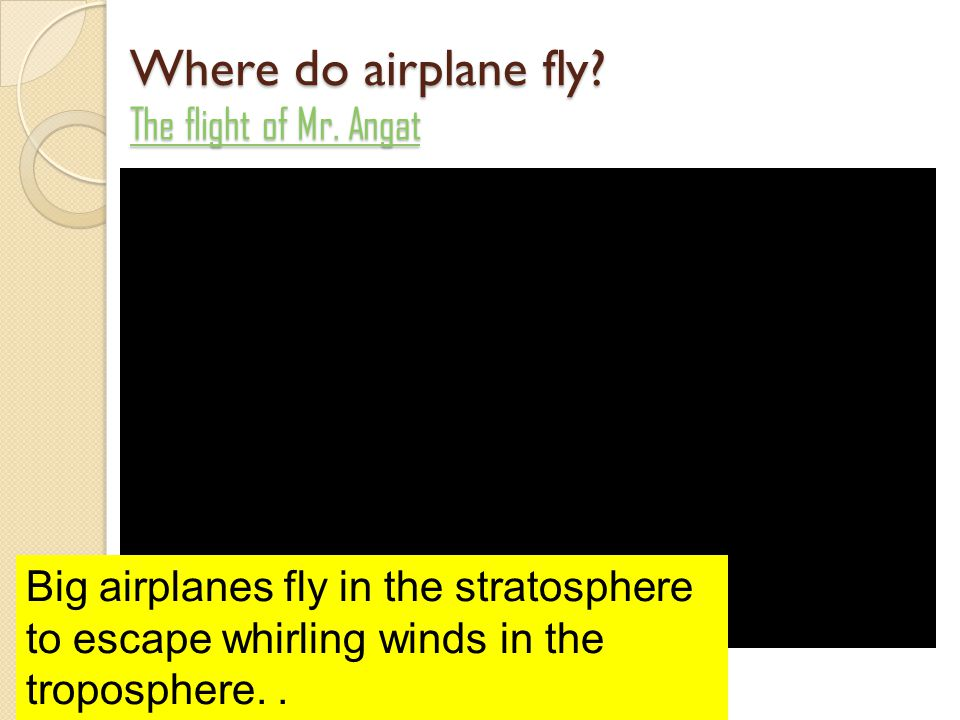 Where do airplane fly The flight of Mr. Angat
