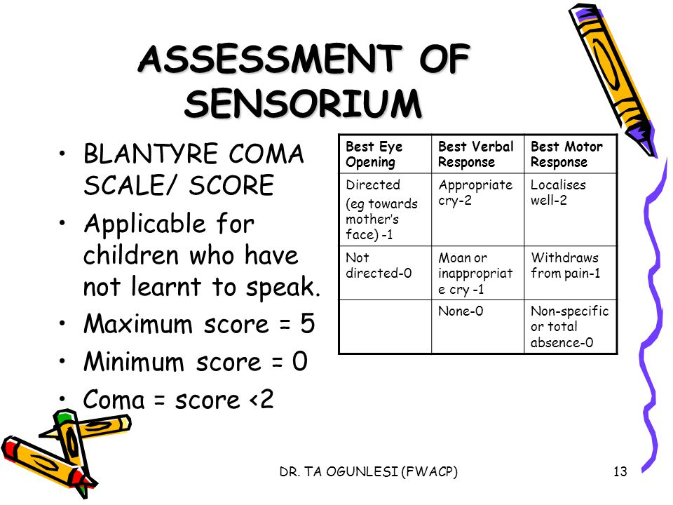 ASSESSMENT OF SENSORIUM
