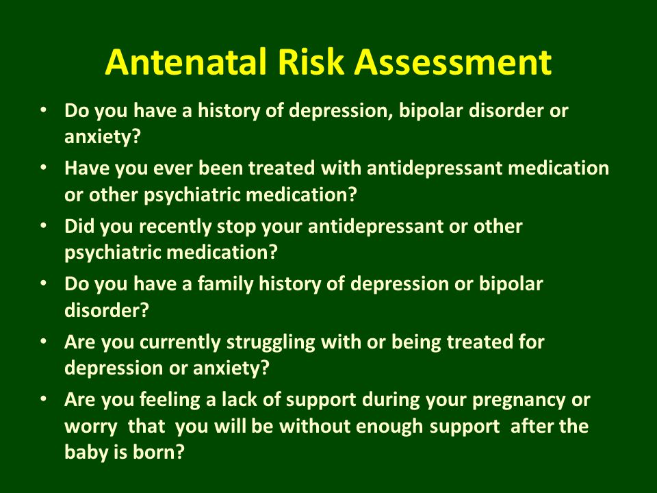 Antenatal Risk Assessment