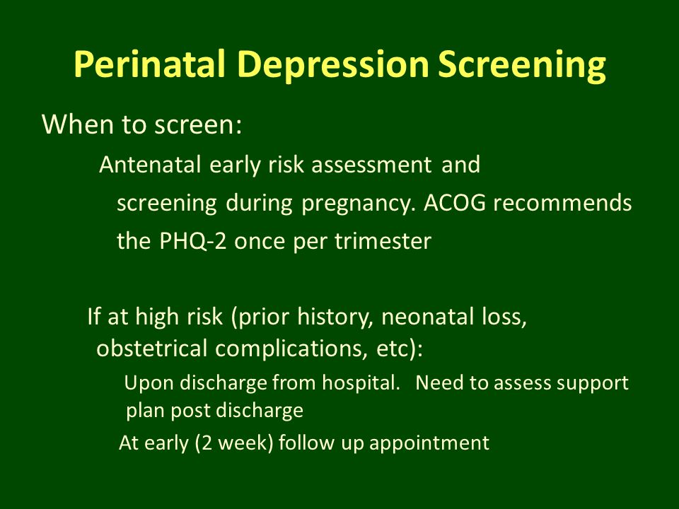 Perinatal Depression Screening