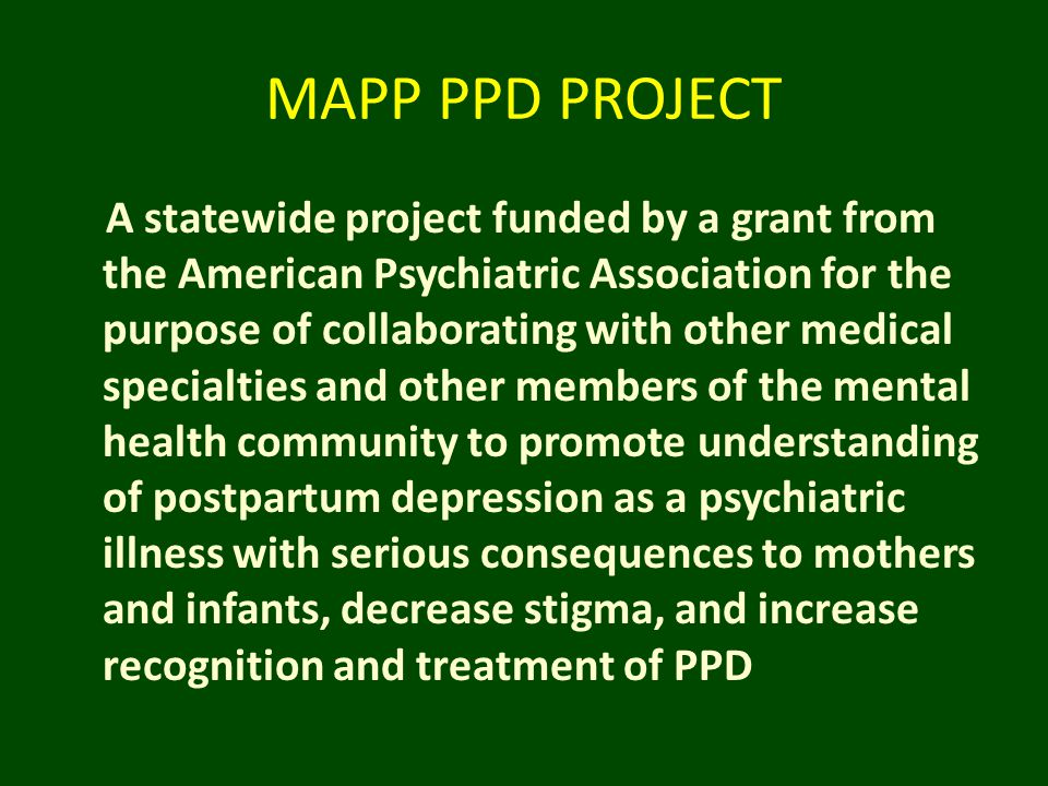 MAPP PPD PROJECT